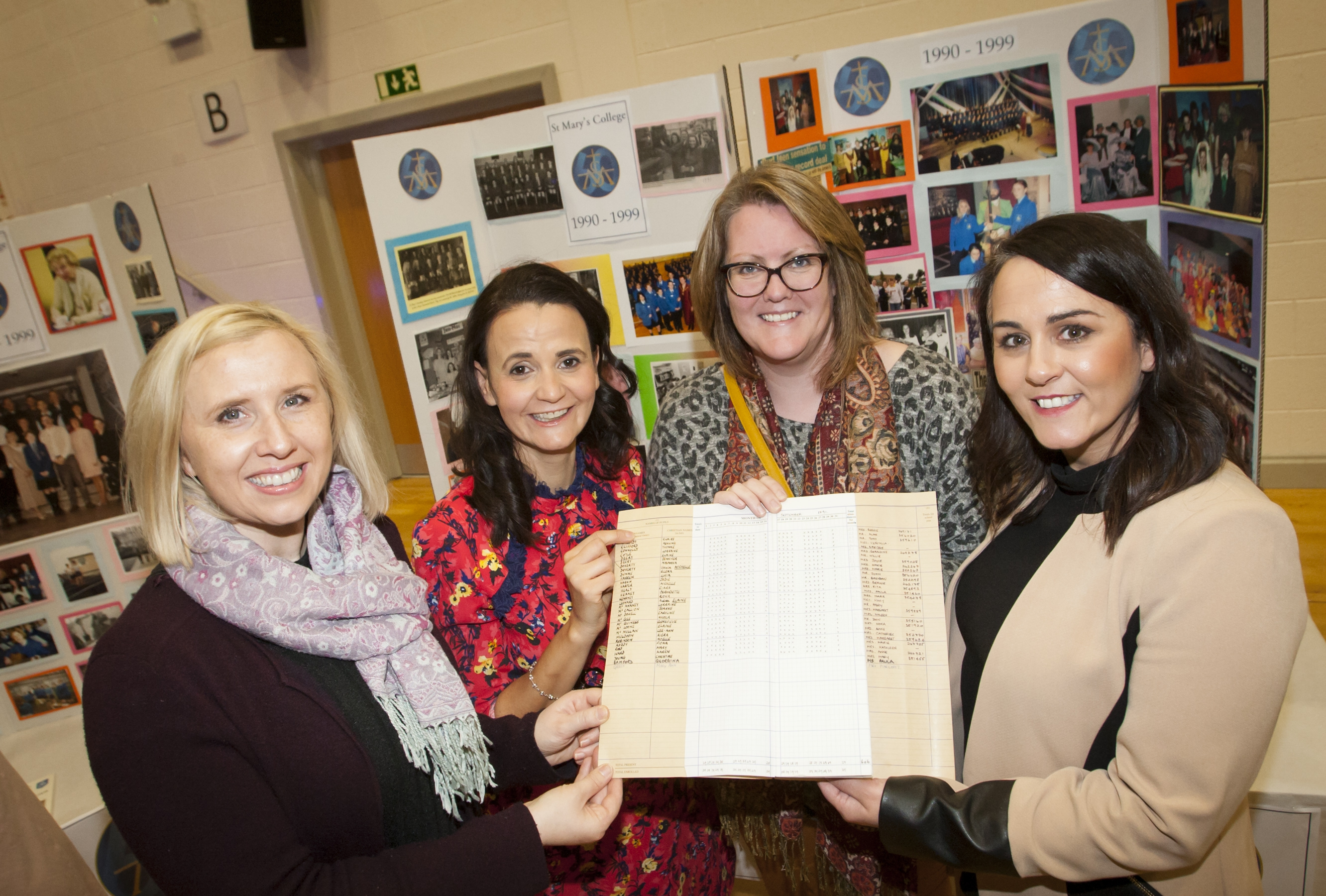 Class of '98 at St. Mary's College - Terri Lamberton, Noelle Robinson, Navanna Doherty and Yvonne Connolly.