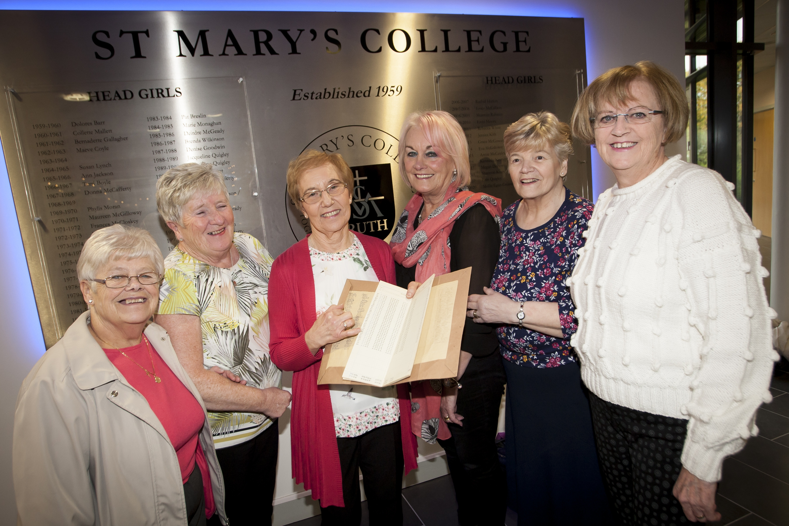 Group pictured on Friday last at St. Mary's. From left, Mary Clarke Carlin, Betty Ferry, Monica McCay, Pat Glenn, Madeline McGrory and Margaret Herron-Callaghan. (Photos: jim McCafferty Photography)
