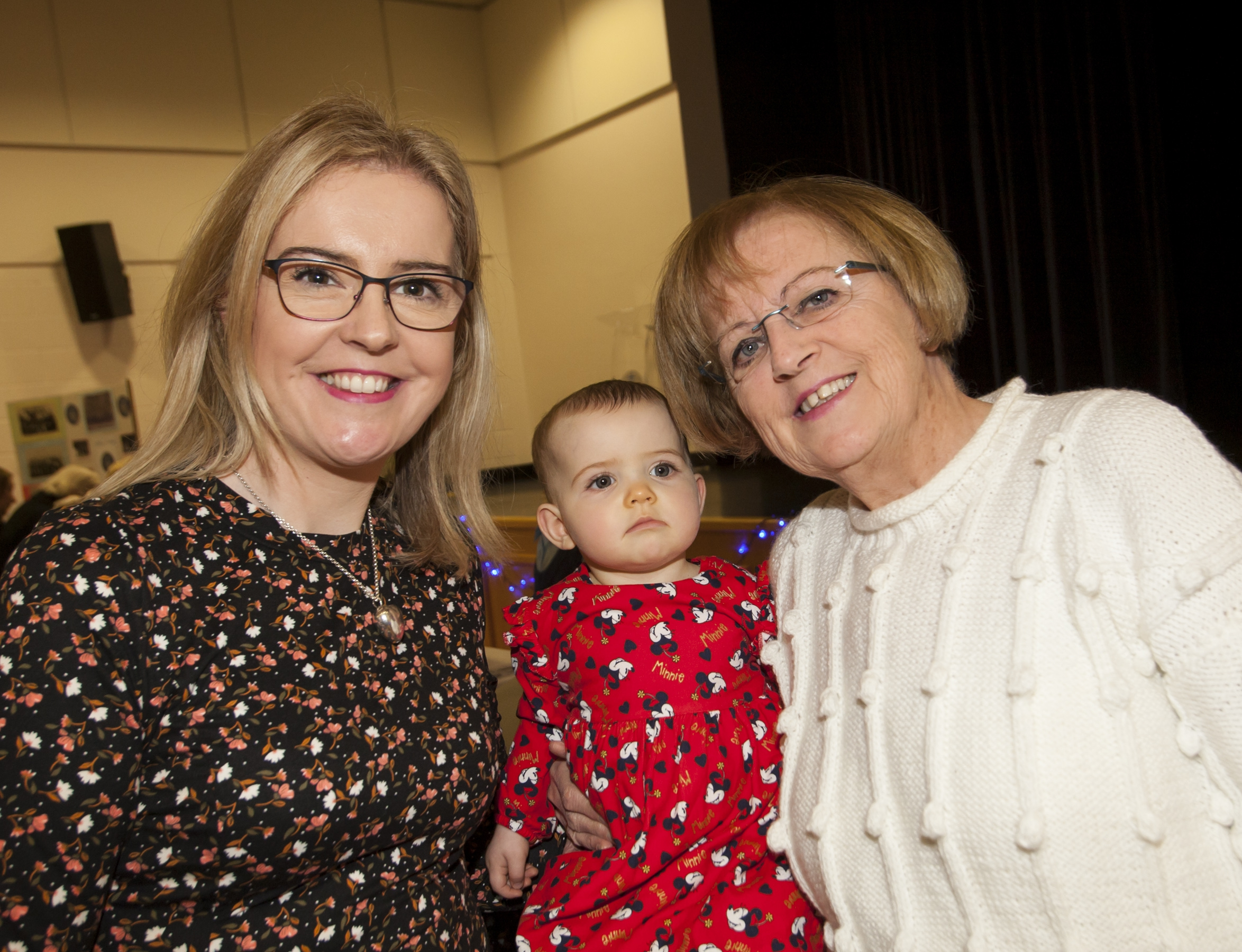 St. Mary's College staff member Kathryn McLaughlin pictured with her 10 months old daughter Lucy and her mum Margaret Callaghan at Friday's exhibition.