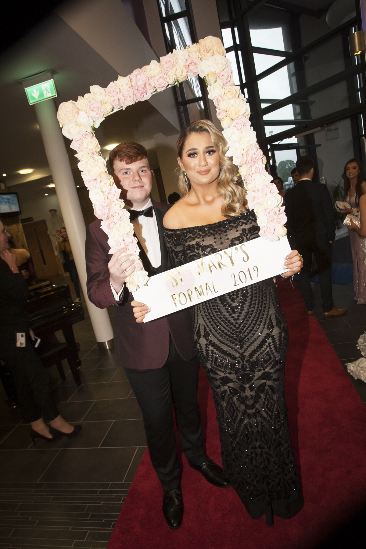 Molly Hamilton with Ben Moran pictured at the St. Mary's College Annual Formal on Thursday night last.