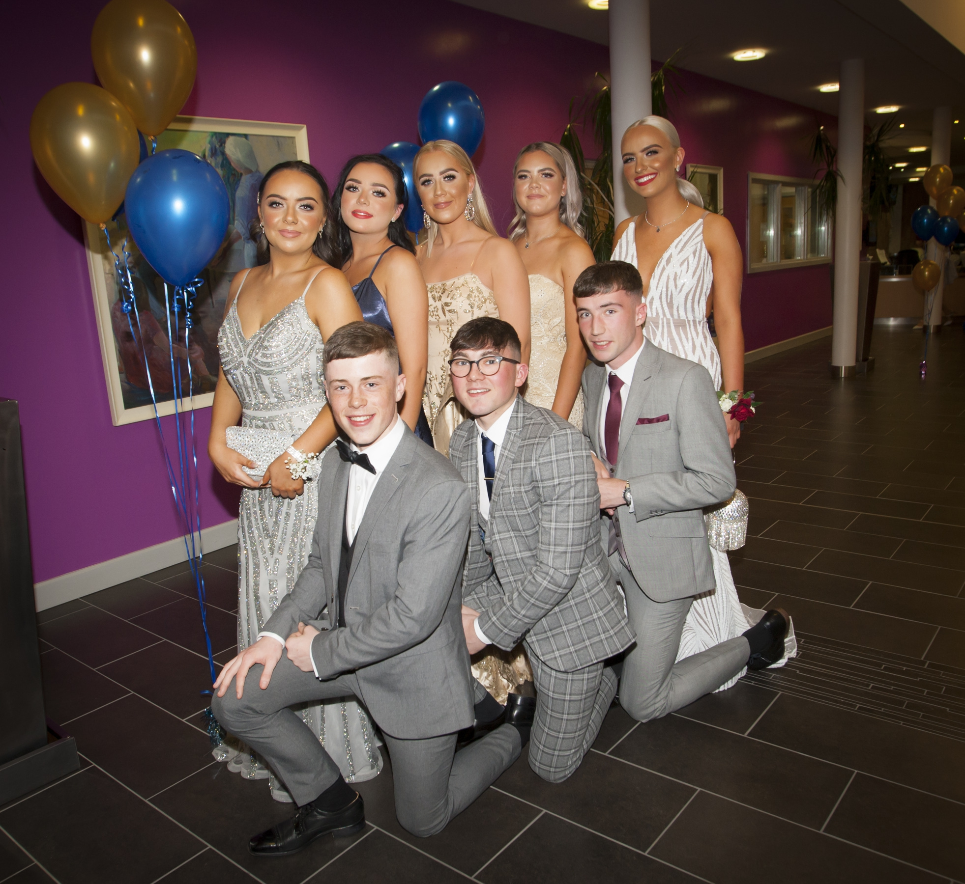 Pictured at the St. Mary's College Annual Formal on Thursday night last are Shannagh McDermott, Sean Mullan, Niamh and Oran, Megan O'Doherty and Emma Jones and Rua Duffy and Oran Duddy.