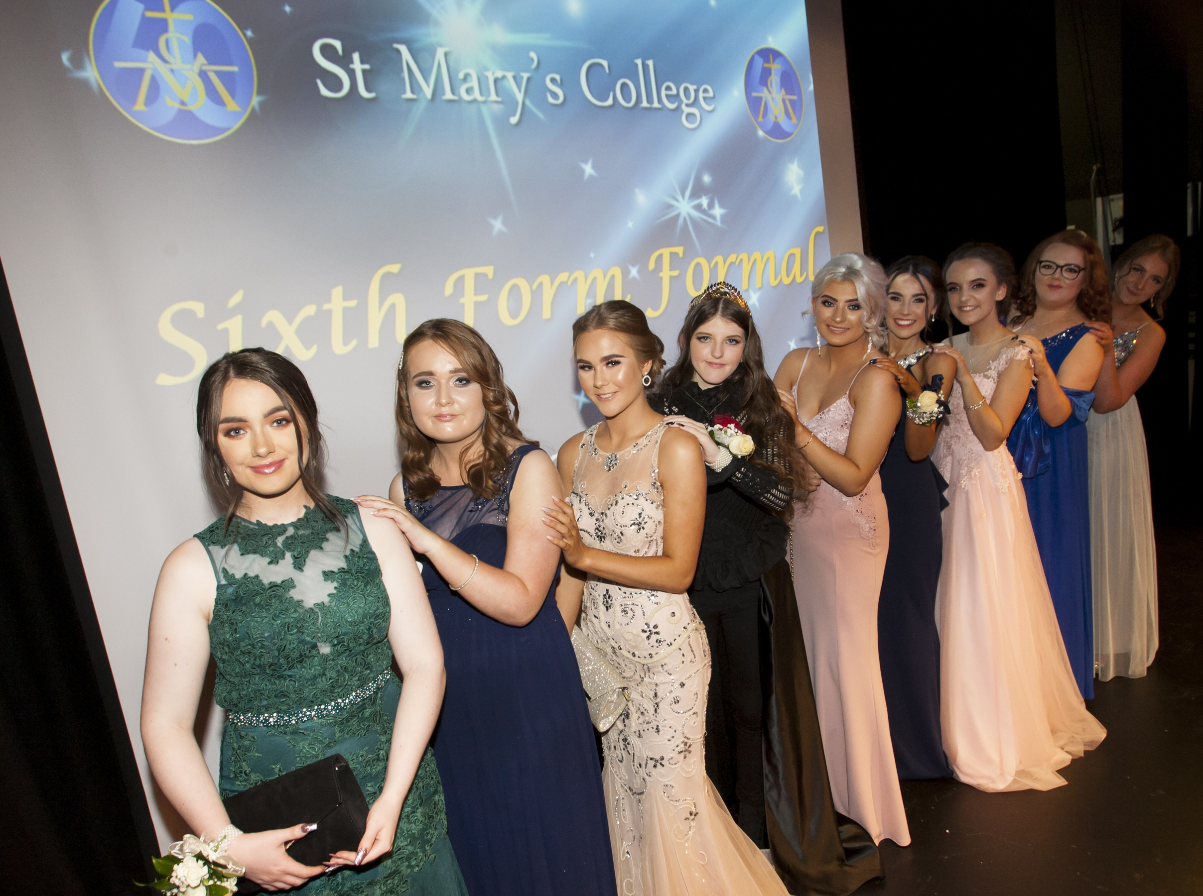 Some of the Class of 2019 pictured at the St. Mary's College Annual Formal on Thursday night last.