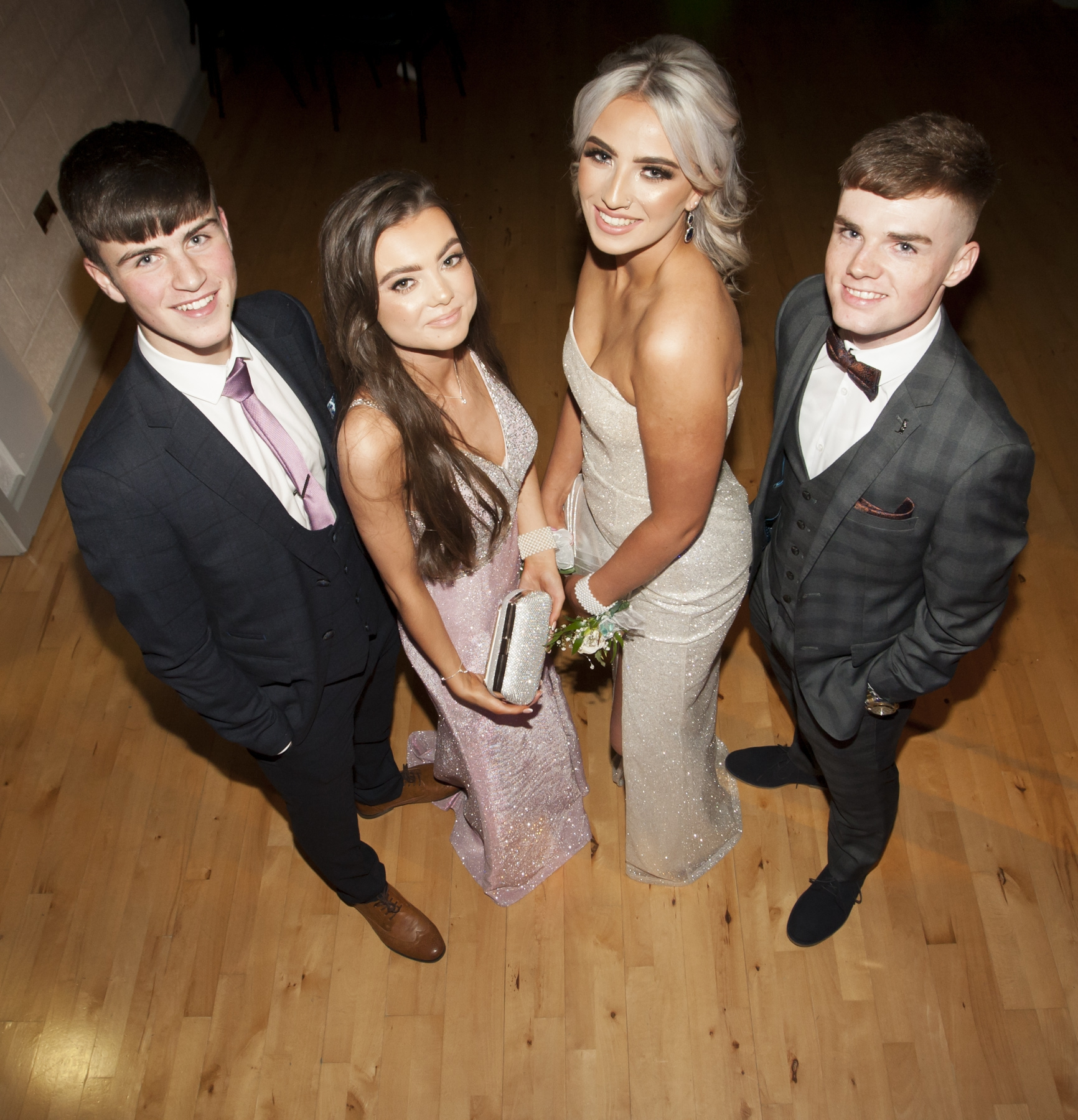 Group pictured at the St. Mary's College Annual Formal on Thursday night last. From left Aidan Cutliffe, Anna Finnis, Hannah Long and Ciaran Barr.