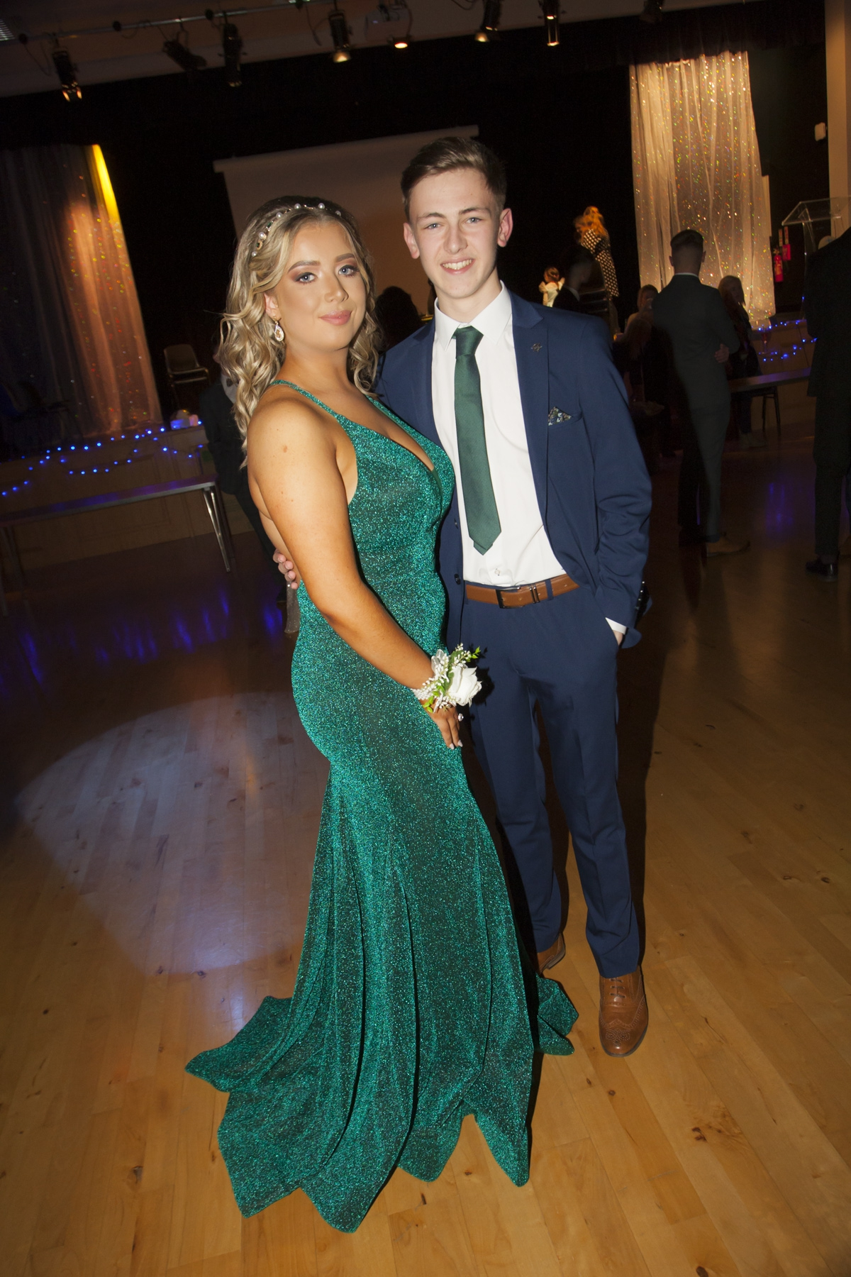 Hannah Feeney and Owen McGeehan pictured on Thursday night at the St. Mary's Formal.