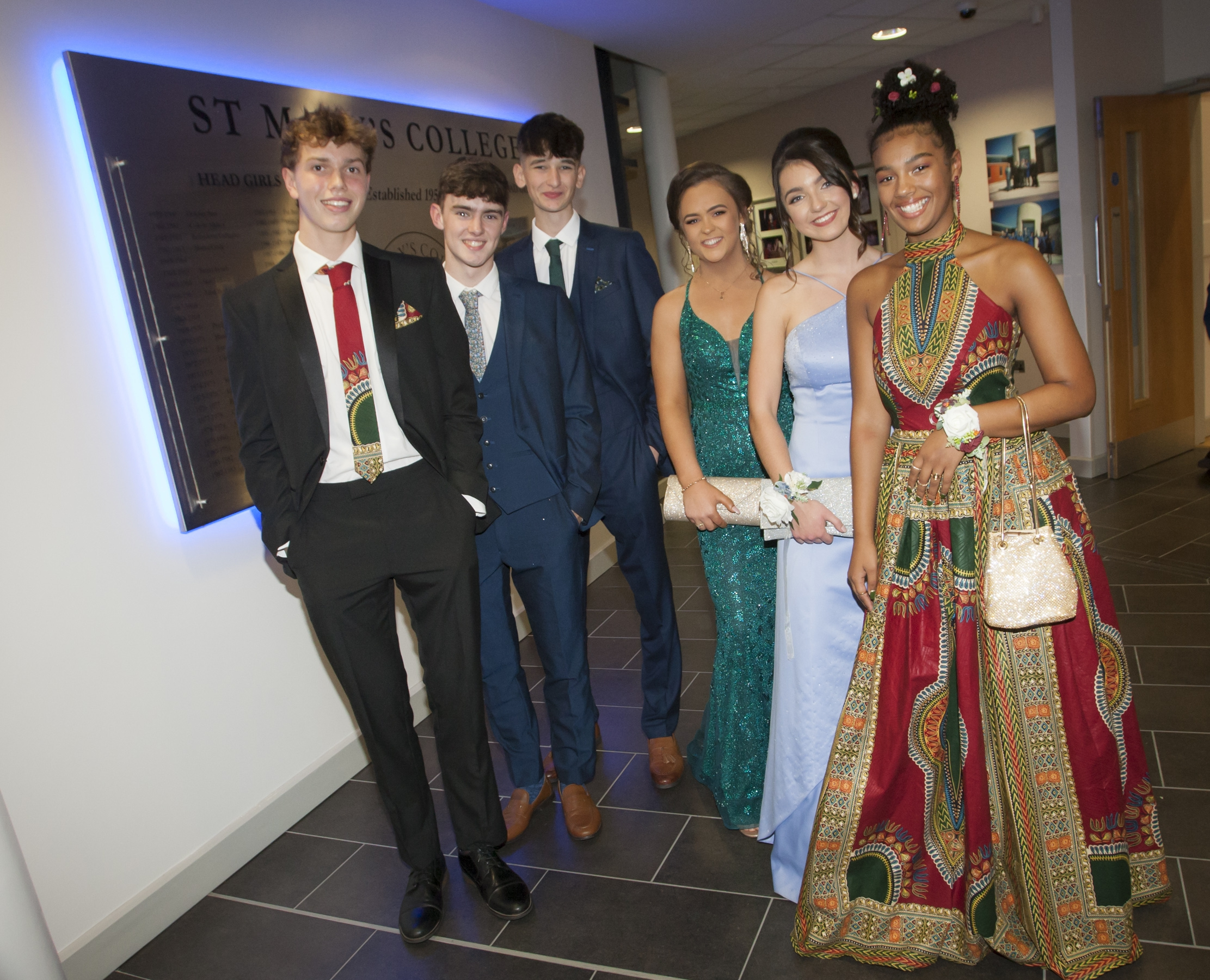 Pictured at the St. Mary's College Annual Formal on Thursday night are Donncha Gilmore, Darragh Coyle, Piaras Carsley, Eimear Cregan, Deirbhile Herron and Ellen Glackin.