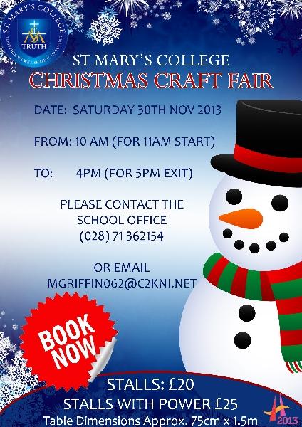 Christmas Craft Fair 2013 St Mary S College