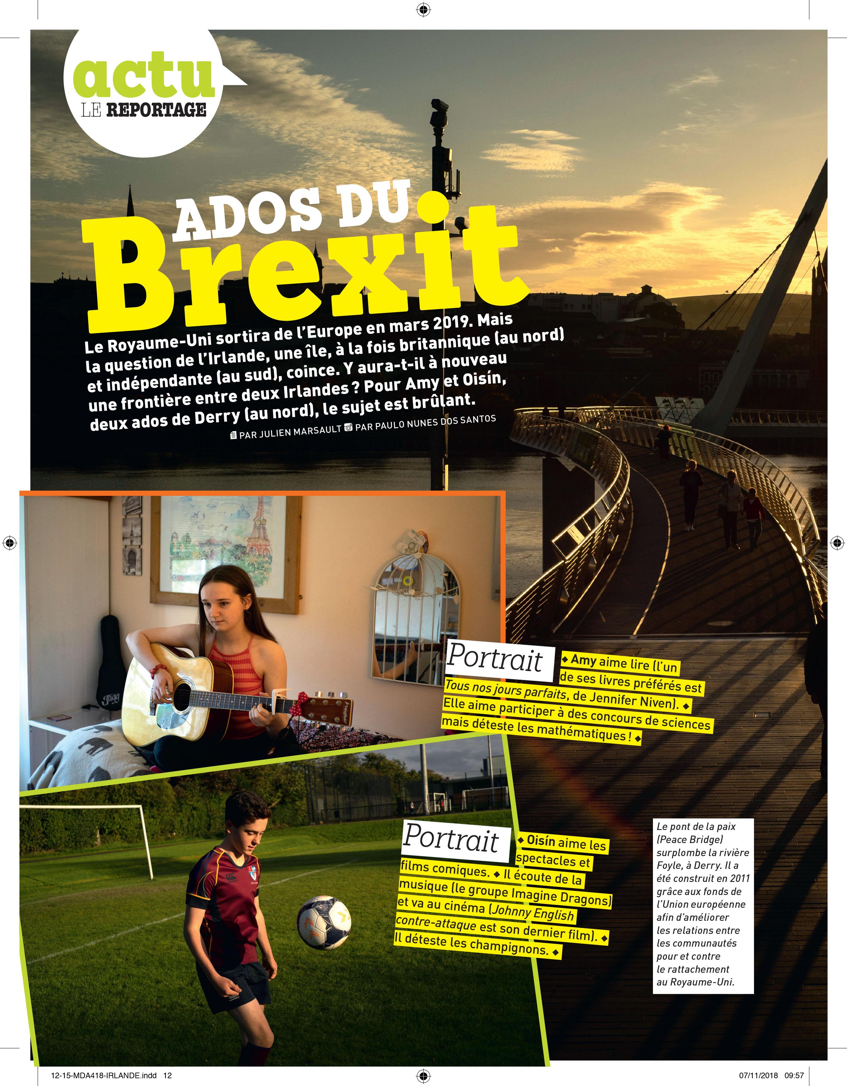 Amy Hutcheon French Newspaper La Monde Des Ados St